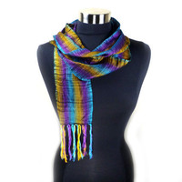 Kente Skinny Scarf - Authentic Contemporary Ghanaian Kente Cloth