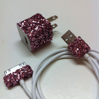 iPhone Charger (customized chunky glitter charger)