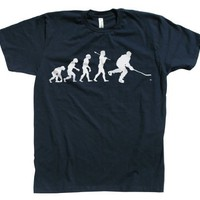 Rocket Factory Evolution of a Hockey Player Cool t-shirt-Navy-Medium