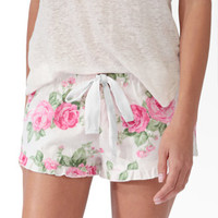 Scalloped Floral Pajama Shorts | FOREVER 21 - 2030187097