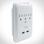 Slim Wall Plate and Surge Protector - 3 AC   2 USB - Add Additional Outlets and USB Ports While Pro