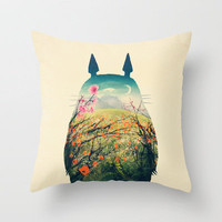 Tonari no Totoro Throw Pillow by Victor Vercesi | Society6