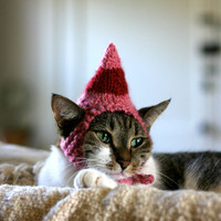$18.00 Jovie the Elf Cat Hat by scooterKnits on Etsy