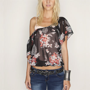 FULL TILT Chiffon Batwing Womens Top 183990149 | blouses &amp; shirts | Tillys.com