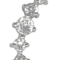 Dazzling Jeweled Cartilage Earring Stud-Cartilage Jewelry-16g Gifts for Women