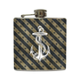 Vintage Nautical Anchor Whiskey Flask Navy Grunge by LiquidCourage