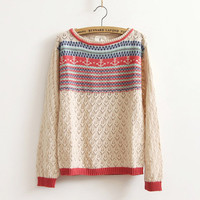 Bohemia cut out sweaters knit sweater-EMS from ClothLess