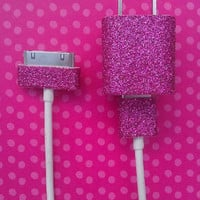 Pink Glitter iPhone Charger