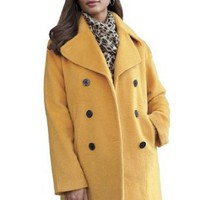 Amazon.com: Jessica London Plus Size Petite Classic Wool Pea Coat: Clothing