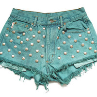 Studded high waist shorts L