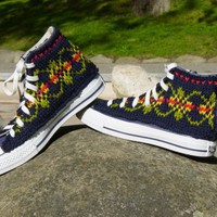 Fair Isle Knit Chucks by PrettySneaky on Etsy