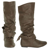 Scrunch Leatherette Boot - Teen Clothing by Wet Seal