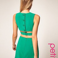 ASOS | ASOS PETITE Shift Dress With Strap Sides at ASOS
