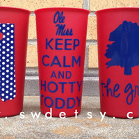 Keep Calm Tailgating Tumbler, Ole Miss, University of Mississippi, Rebels, Christmas Gift
