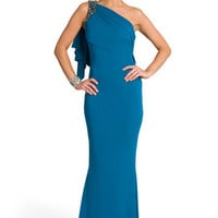 Alluring Aqua Gown | Rent The Runway