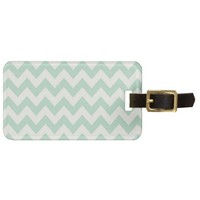 Light Green Chevron Luggage Tag