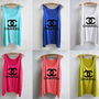 Colorful Chanel Inspired Tank