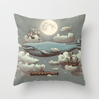 Ocean Meets Sky Throw Pillow by Terry Fan | Society6