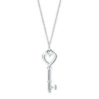 Tiffany Keys heart key charm in sterling silver