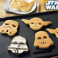 Star Wars Pancake Molds, Set of 3 Heroes and Villains: Yoda, Darth Vader, Stormtrooper