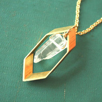 Rhombus Crystal Necklace by iadornu on Etsy