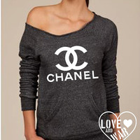 Love and War CHANEL eco friendly slouch fleece sweatshirt  top