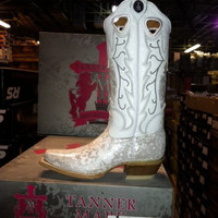 White Wedding Cowboy Boots