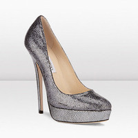 Jimmy Choo Eros Glitter Fabric Shoes