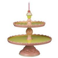 Amazon.com: Grasslands Road Just Desserts 10-3/4-Inch Cupcake 2 Tiered Pedestal Cake Plate: Kitchen & Dining