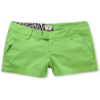 Volcom Girls Frochickie Solid Lime Green Shorts