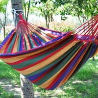 Queen size stripe canvas hammock from House Beauty