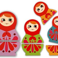 Kikkerland Design Inc   » Products  » Vinyl Babushka Magnets
