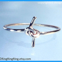 Promise knot ring 925 sold sterling silver ring by RingRingRing
