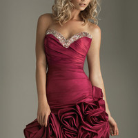 SALE! 2011 Prom Dresses! Night Moves Sweetheart Folded Rose Cocktail Dress- Size 0-18 - Unique Vintage - Cocktail, Evening  Pinup Dresses