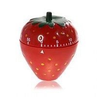 Strawberry Shaped 60-Minute Mechanical Timer - Red
