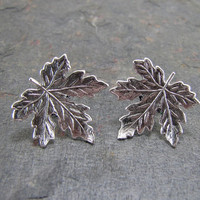 Leaf Earrings Maple Leaf Jewelry