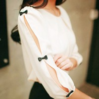 BOW SLEEVED SHIRT