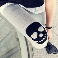 Skull Slim warm leggings DDK0004