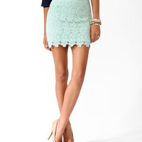 Scalloped Lace Miniskirt | FOREVER 21 - 2030417228