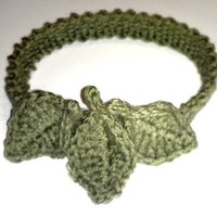 Celery Green Leaf Headband