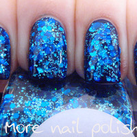 Beneath the Blue Hand made custom nail polish