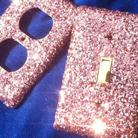 Pink Popsicle Glitter Switchplate / Oulet Cover Set by ArtZodiac