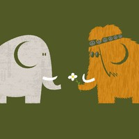 """Mammoths were Hippies"" - Threadless.com - Best t-shirts in the world"