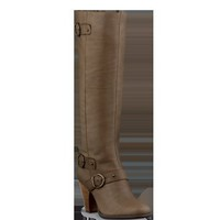 ALBANO taupe leather knee high calf fit boots
