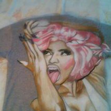 Versace, hand-painted nicki minaj, t-shirt xtra small