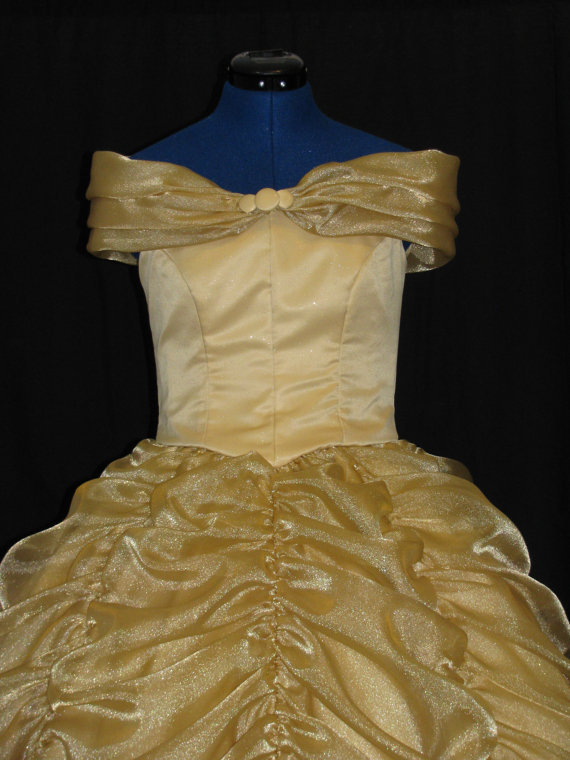 Adult Belle Beauty and the Beast Gown Custom by NeverbugCreations