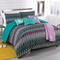 Roxy Tribal Dash Comforter Sham Body Pillow Throw Bedding Set