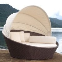 Outdoor Wicker Bed: Patio, Lawn &amp; Garden