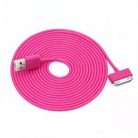 Hot Pink 10 ft long iPhone charger