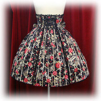 Alice &amp; the Pirates  Rose Jail Print Bustle Skirt